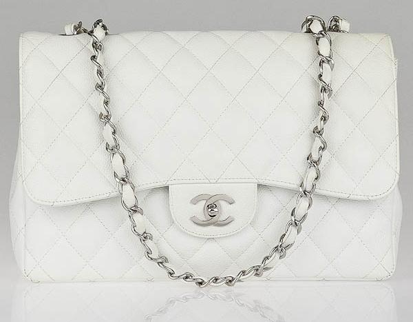 Chanel Classic Flap Bag White