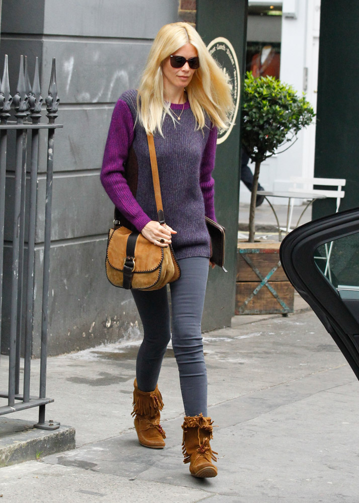 Claudia Schiffer Looks Stunning While Carrying Ferragamo ...