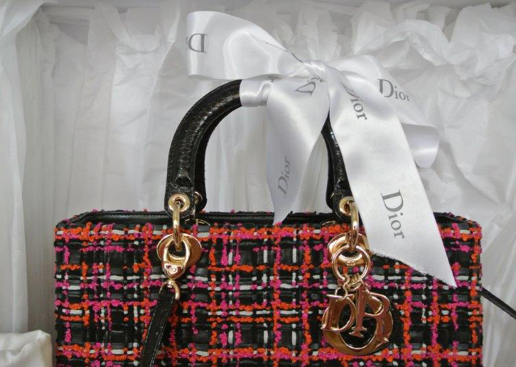 Dior Lady Dior Tweed Bag