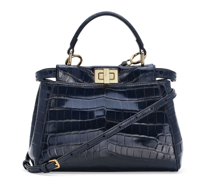Fendi Alligator Mini Peekaboo Satchel