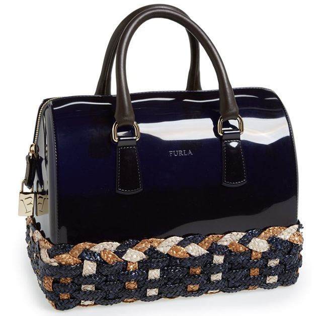 Furla Candy Satchel Straw