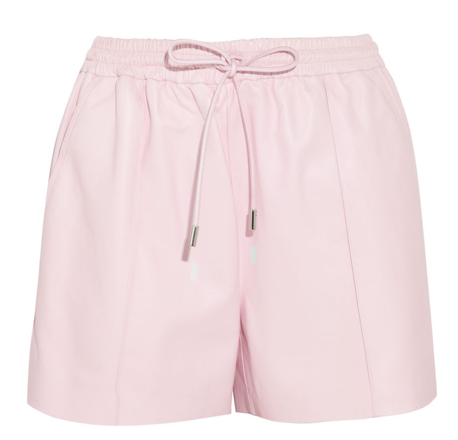 Givenchy Pastel Pink Leather Drawstring Shorts