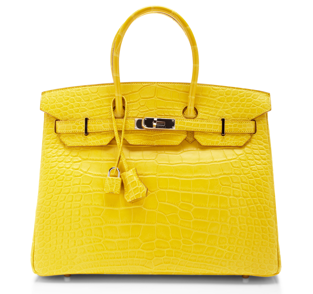Hermes Alligator Birkin Yellow