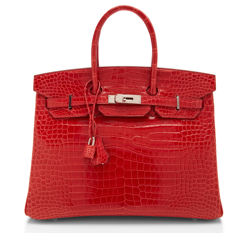 Hermes Crocodile Birkin Red