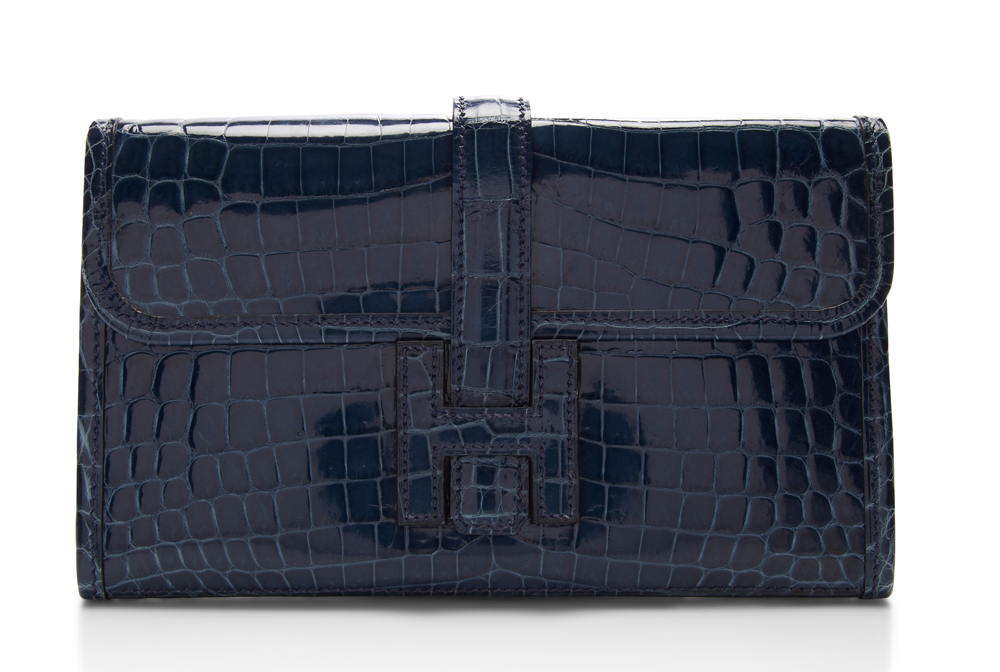 Hermes Crocodile Jige Clutch