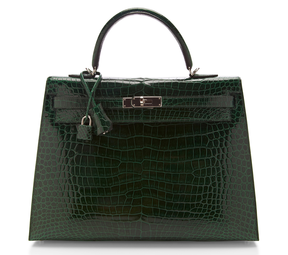 Hermes Crocodile Sellier Kelly Bag