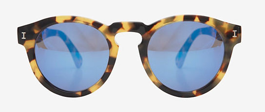 Illesteva Leonard Mirrored Tortoise Sunglasses