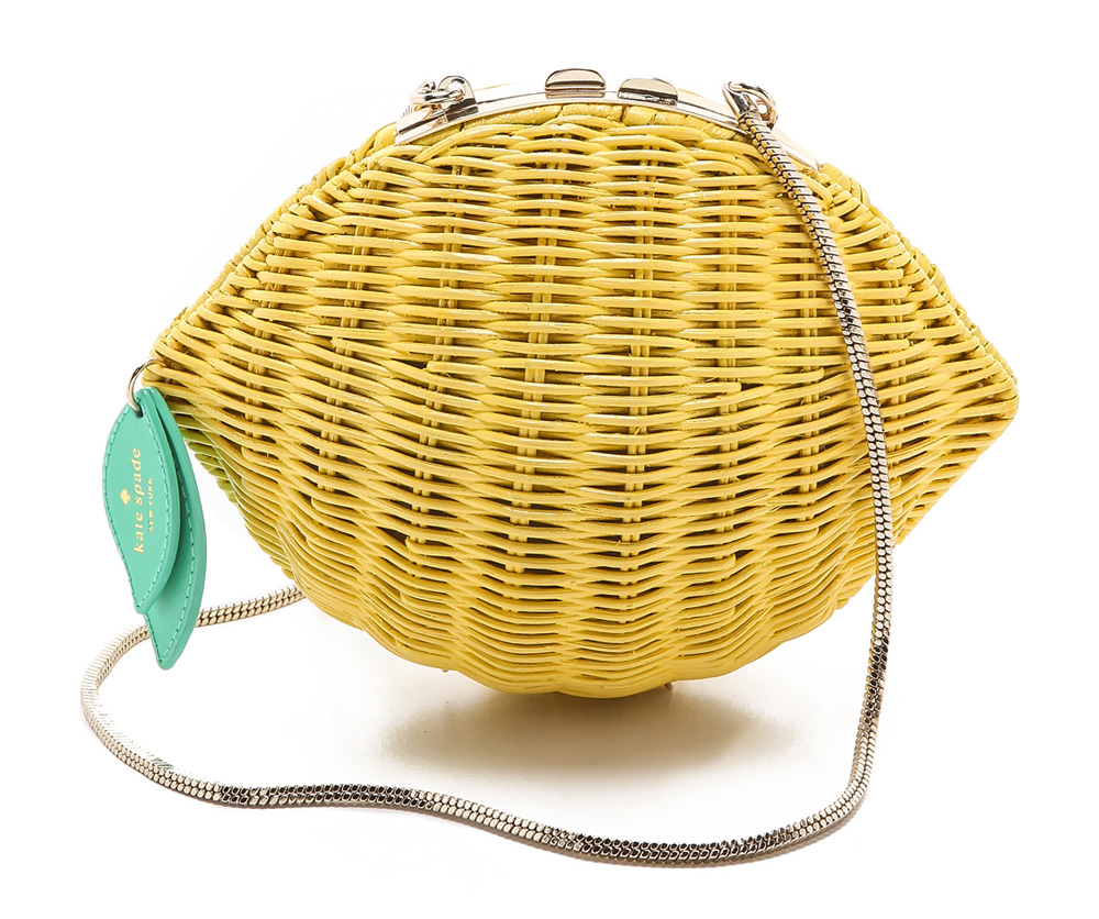 Kate Spade Wicker Lemon Shoulder Bag