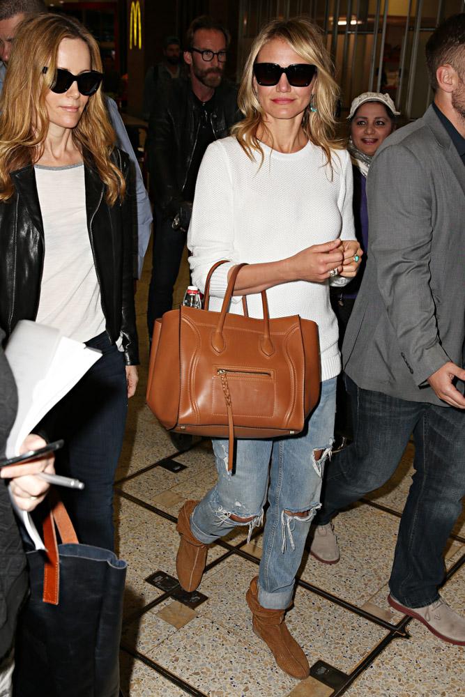 Kate Upton Cameron Diaz Celine Luggage Totes-4
