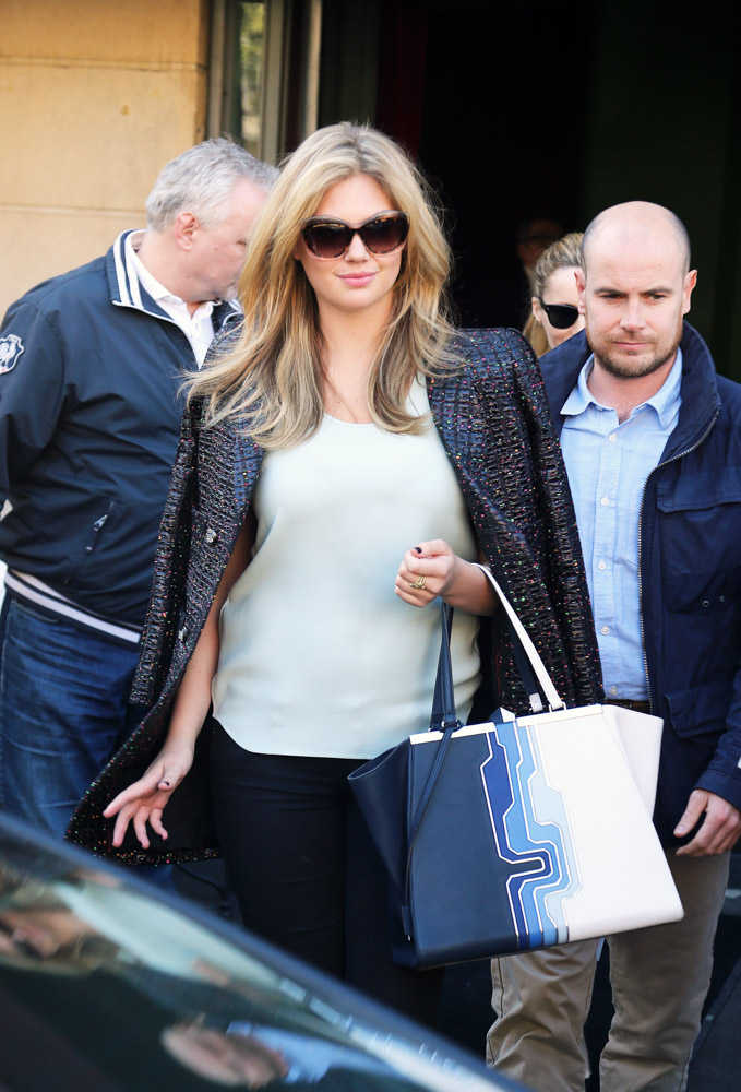 Kate Upton Fendi 3Jours Shopper Tote-3