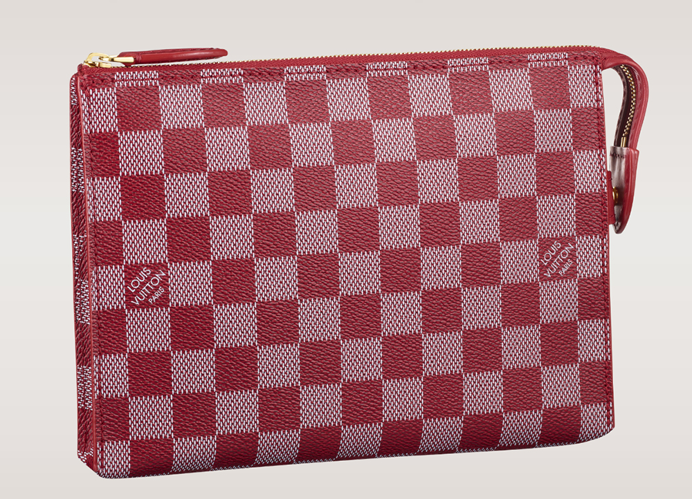 Louis Vuitton Damier Couleurs Element Clutch Carmine