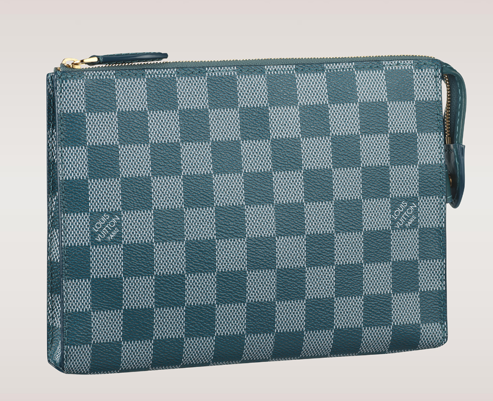 Louis Vuitton Damier Couleurs Element Clutch Cyan