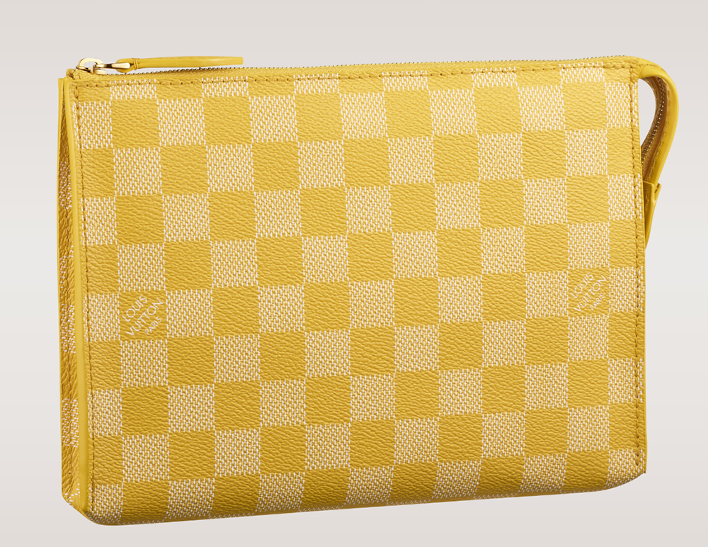 Louis Vuitton Damier Couleurs Element Clutch Mimosa