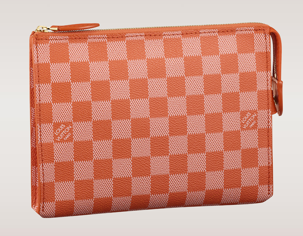 Louis Vuitton Damier Couleurs Element Clutch Piment