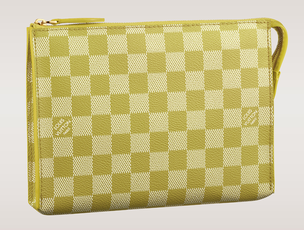 Louis Vuitton Damier Couleurs Element Clutch Pistache