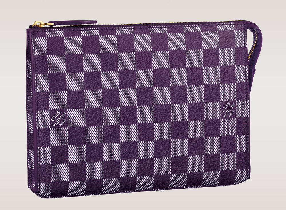 Louis Vuitton Damier Couleurs Element Clutch Quetsche