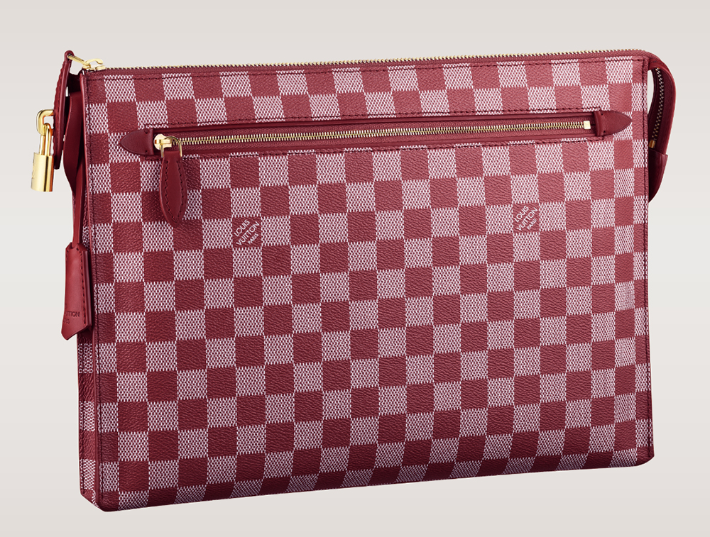 Louis Vuitton Damier Couleurs Kit Clutch Carmine