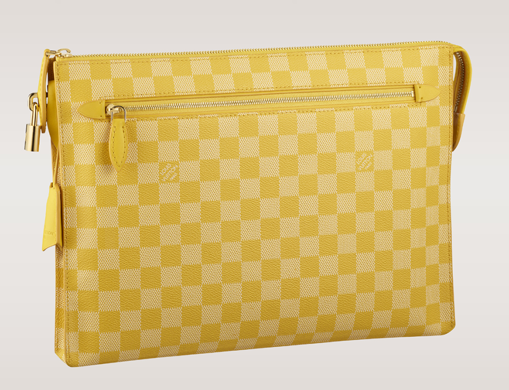 Louis Vuitton Damier Couleurs Kit Clutch Mimosa