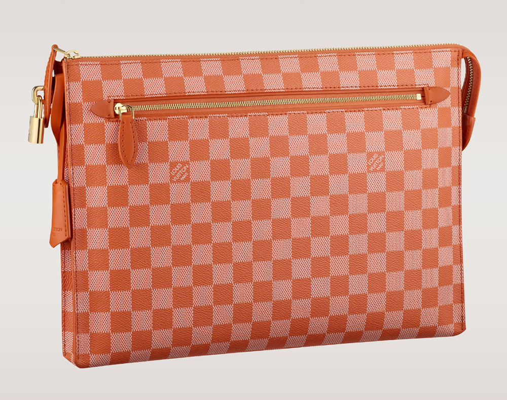 Louis Vuitton Damier Couleurs Kit Clutch Piment