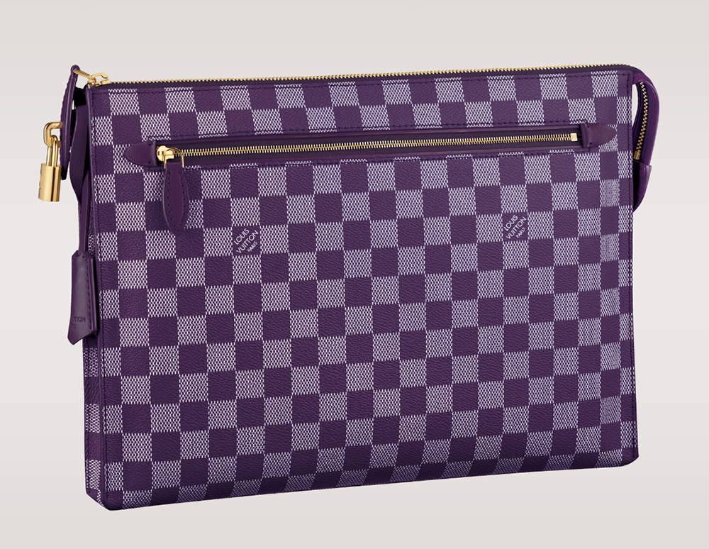 Louis Vuitton Damier Couleurs Kit Clutch Quetsche