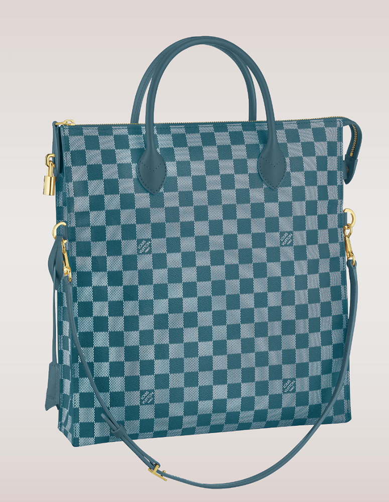 Louis Vuitton Damier Couleurs Mobil Tote Cyan