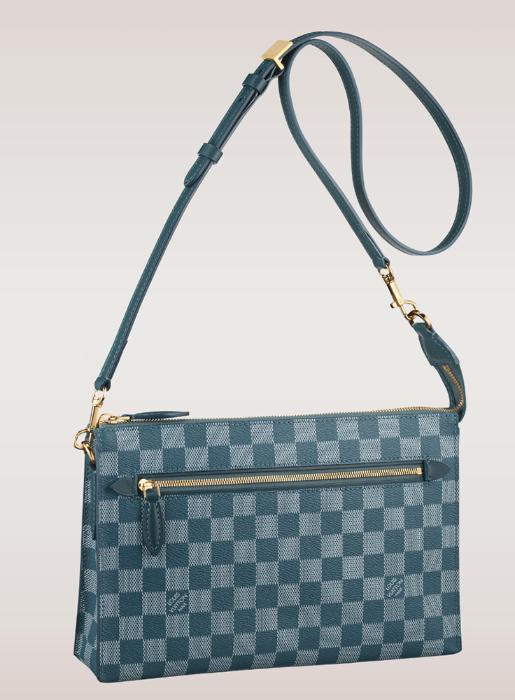 Louis Vuitton Damier Couleurs Modul Shoulder Bag Cyan