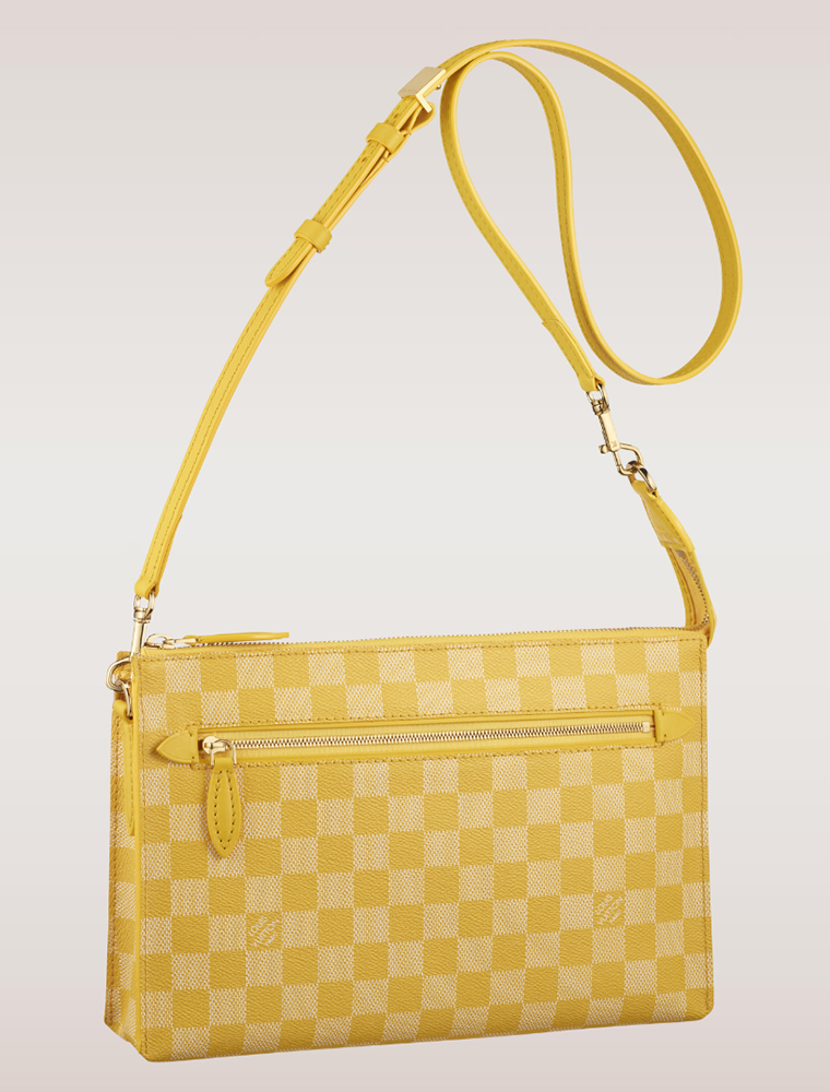 Louis Vuitton Damier Couleurs Modul Shoulder Bag Mimosa