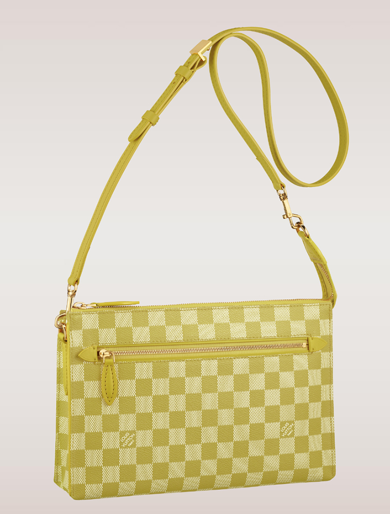 Louis Vuitton Damier Couleurs Modul Shoulder Bag Pistache