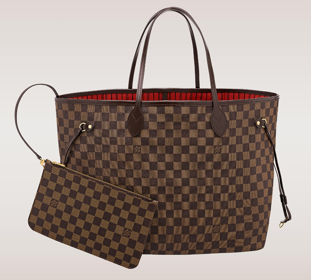 Louis Vuitton Damier Ebene Neverfull Tote GM