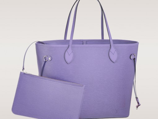 Louis Vuitton Epi Leather Neverfull Tote MM Lilas