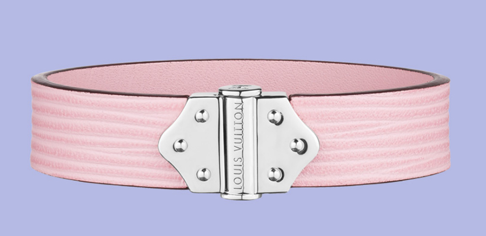 Louis Vuitton Epi Leather Spirit Bracelet Pink