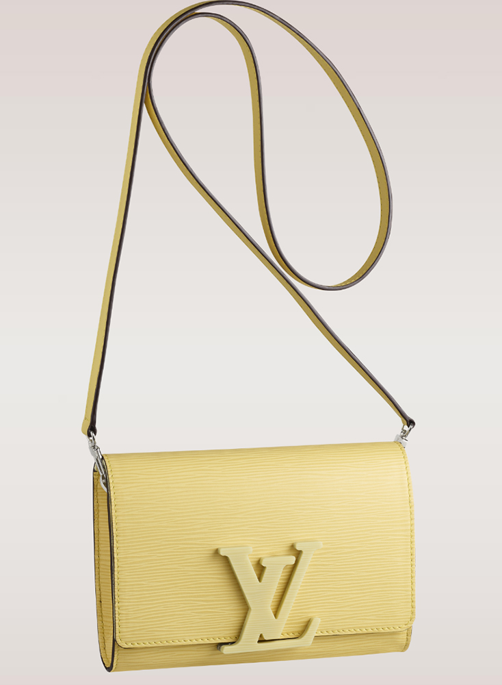 Louis Vuitton Louise Epi Leather Shoulder Bag Jaune Pale