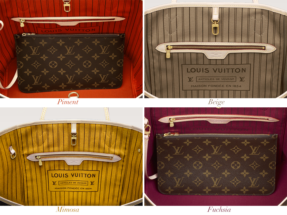 Louis Vuitton Monogram Neverfull MM Interior Colors