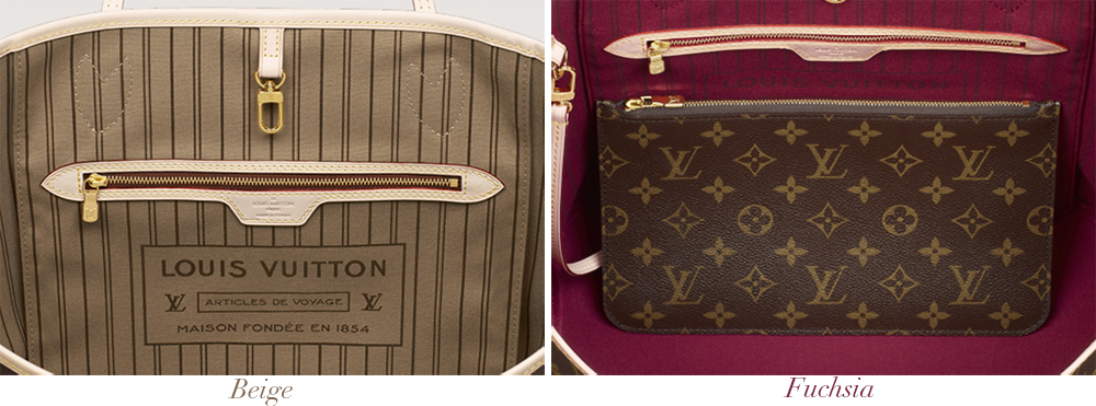 Louis Vuitton Neverfull PM Interior Colors