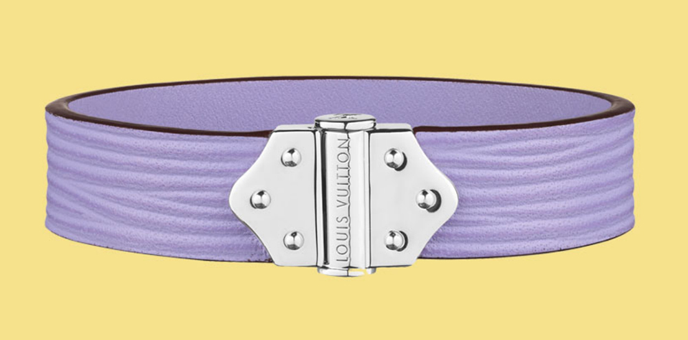 Louis Vuitton Spirit Epi Leather Bracelet Lilas