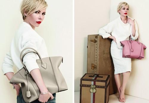 d26a71b8be Michelle Williams Louis Vuitton Lockit - PurseBlog
