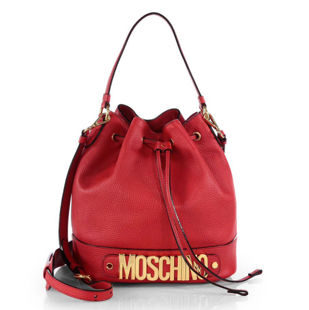 Moschino Rosello Logo Bucket Bag