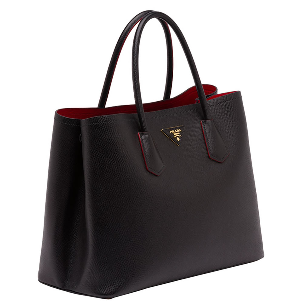 black prada bag nylon - The New Must-Have: Prada Saffiano Cuir Double Bag - PurseBlog