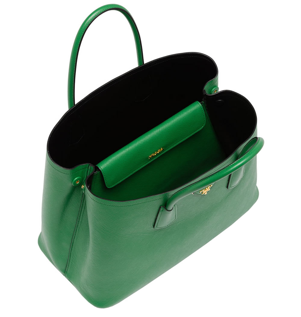 The New Must-Have  Prada Saffiano Cuir Double Bag - PurseBlog effdddee10ffb