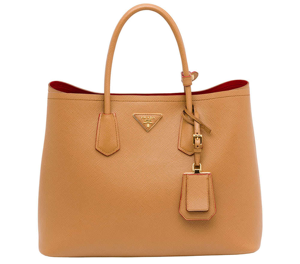 df27a13e0949a2 The New Must-Have: Prada Saffiano Cuir Double Bag - PurseBlog