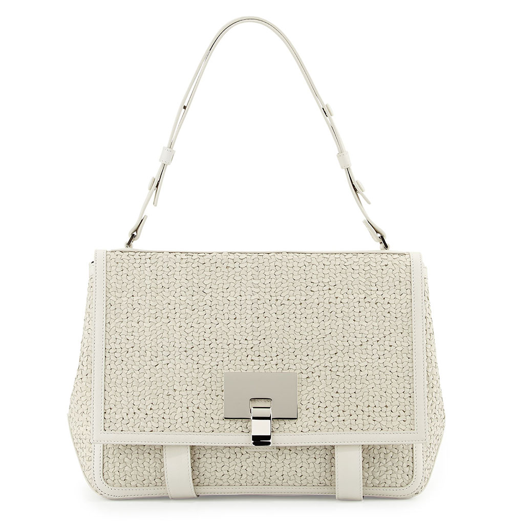 Proenza Schouler PS Courier Large Woven Shoulder Bag