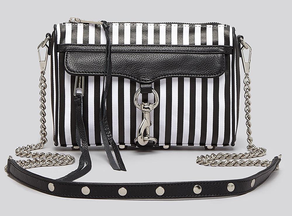 Rebecca Minkoff Striped Mini MAC Bag
