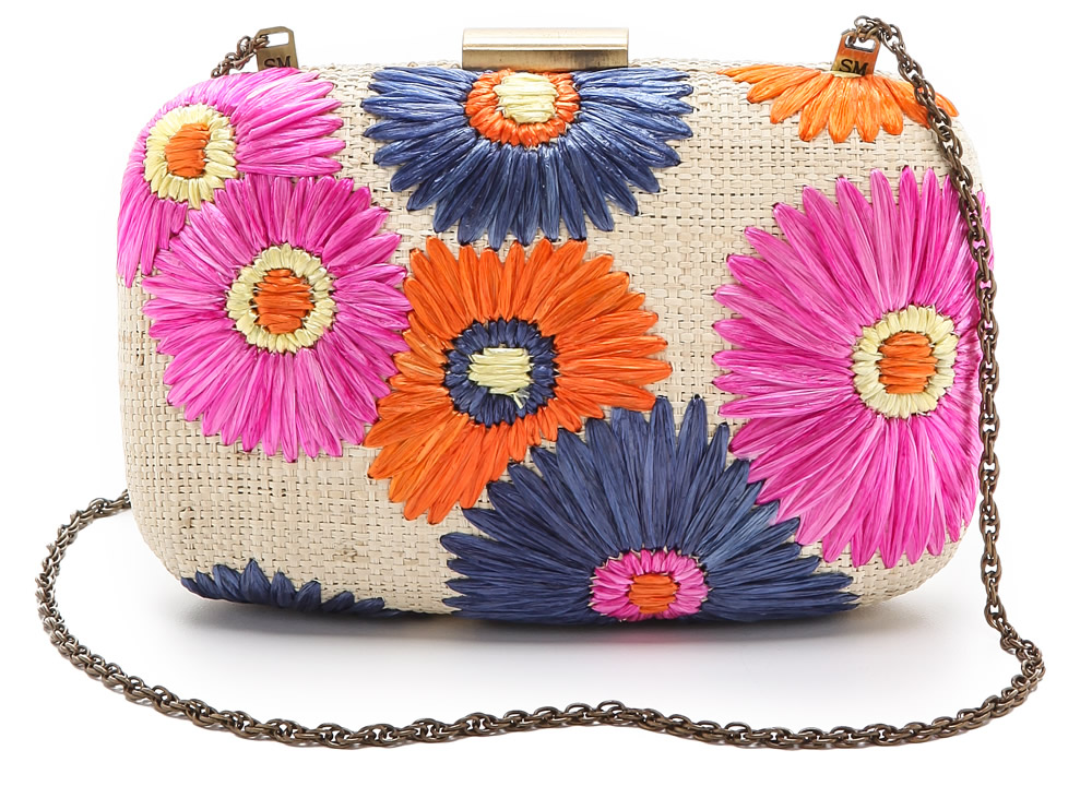 Serpui Marie Flora Embroidered Clutch