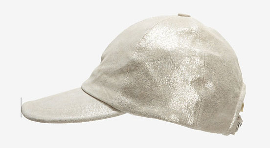 Silver Leather Baseball Cap Intermix Exclusive