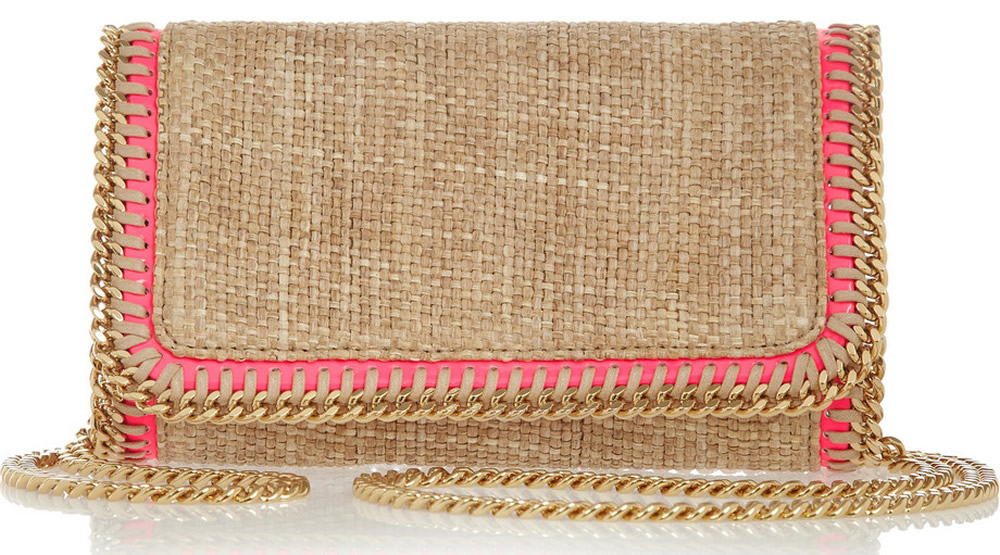 Stella McCartney Falabella Woven Raffia Bag