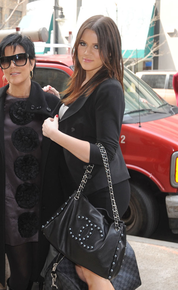 692077fffbb95e Chanel Studded Tote. The Many Bags of Khloe Kardashian-4