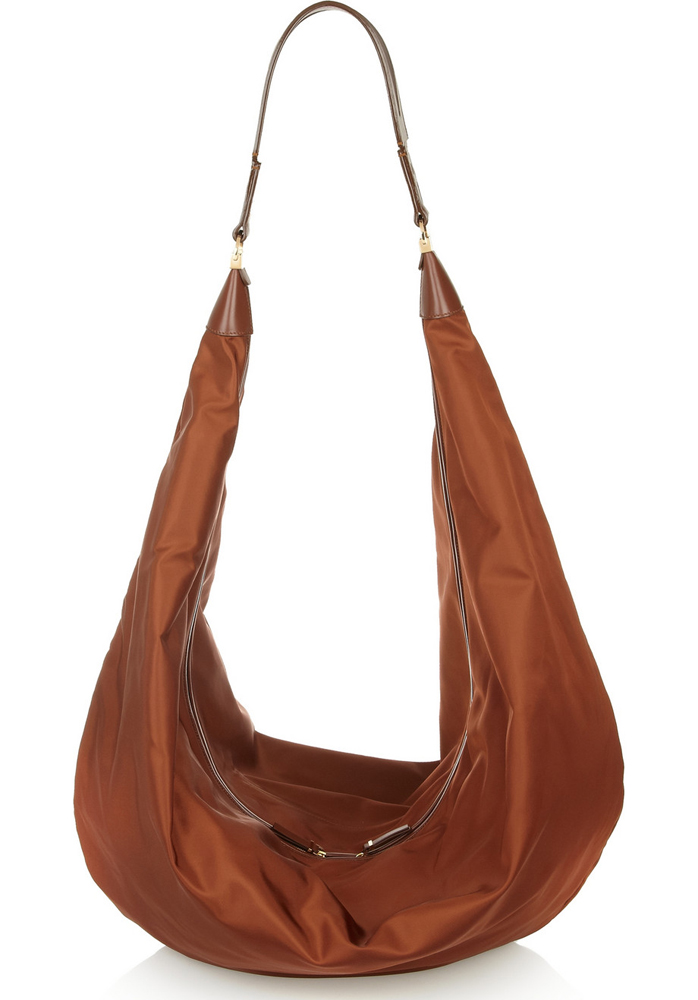 The Row Sling Satin Shoulder Bag