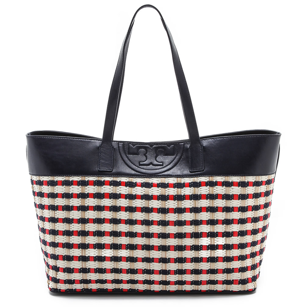 Tory Burch Soft Straw Multi E : W Tote