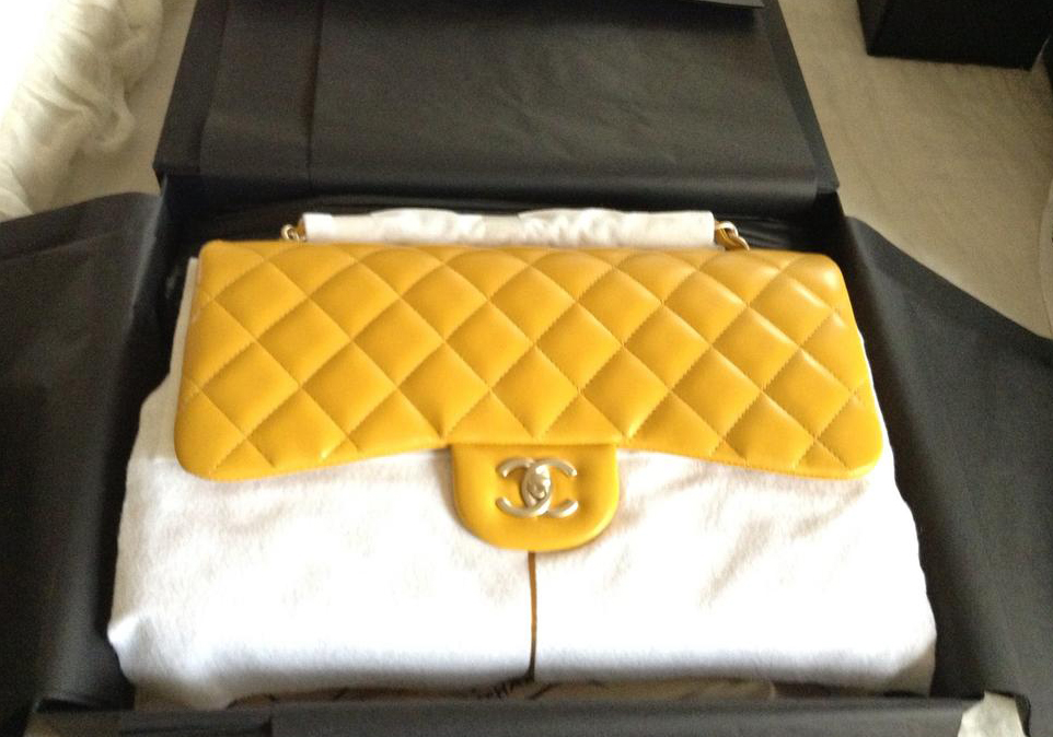 Yellow Chanel Classic Flap Bag