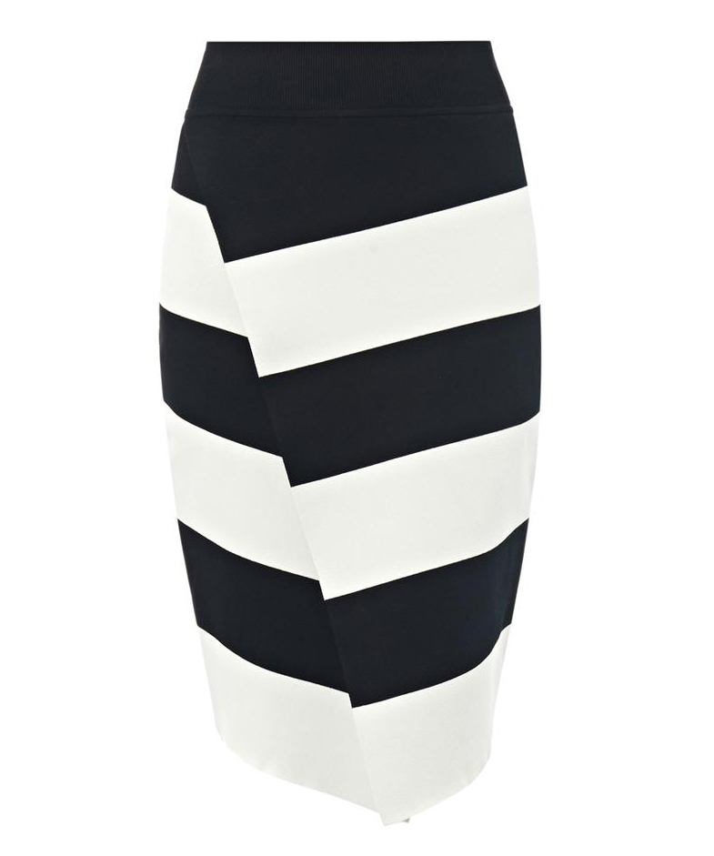 ALC Campbell Striped Knit Skirt